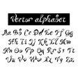 type decorative alphabet vector image