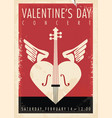 valentines day music concert artistic poster desig vector image