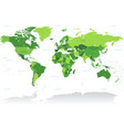 vctor green world map vector image vector image