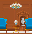 vip vintage interior furniture rich wealthy house vector image vector image