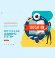 web page design templates for e-learning online vector image vector image