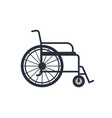 wheelchair for disabled isolated on white vector image vector image