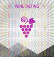 Wine tasting card big grape sign vector image vector image