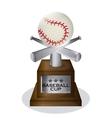 Baseball design sport concept Flat vector image