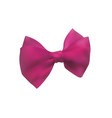 pink bow out of satin ribbon decorative bowknot vector image