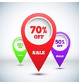 Set of 3D Colorful Map Markers vector image