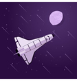 shuttle in space vector image