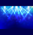 spotlights lighting disco party stage with blured vector image