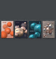 abstract sphere poster modern brochure vector image vector image