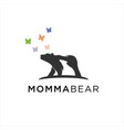 bear mom and ba vector image