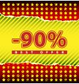 best offer 90 percent off vector image vector image