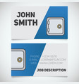 business card print template with bank vault logo vector image vector image