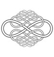 calligraphy knot pattern from infinity symbol vector image