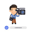cameraman flat cartoon character vector image