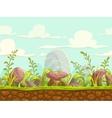 Cartoon seamless nature landscape vector image vector image