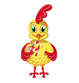 Cheerful Cockerel with candy vector image