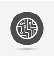 Circuit board sign icon Technology symbol vector image vector image
