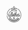 clothes and accessories logo linear clothes vector image vector image
