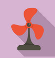 Cooling fan icon flat style