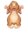 cute happy rabbit cartoon vector image