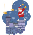 Cute Santa Claus Jazz Trumpet vector image vector image