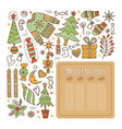 design of a christmas card vector image vector image