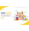 earn points website landing page design vector image vector image