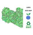 ecology green mosaic libya map vector image vector image
