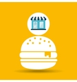 ecommerce store fast food burger icon vector image vector image
