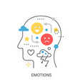 emotions concept vector image