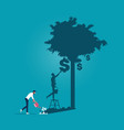 financial growth and vision investment concept vector image vector image