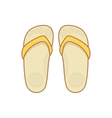 Flip-flops isolated on a white background vector image