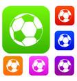 football ball set color collection vector image vector image