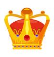 golden crown royal jewelry symbol king queen vector image vector image