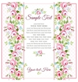 Greeting card with small pink roses vector image