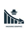 hacking decrease graphic icon mobile app vector image