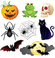 halloweenset vector image