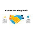 handshake infographic banner slide template vector image