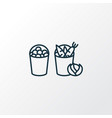 harvest icon line symbol premium quality isolated vector image