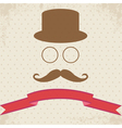 Hipster on Dot Vintage Background vector image vector image