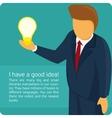Infographics creative idea vector image