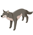 Isometric wolf icon vector image