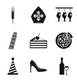 liquid icons set simple style vector image vector image