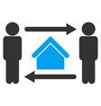 men home exchange icon vector image vector image