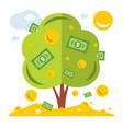 money tree symbol successful business vector image