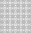 Monochrome seamless pattern in arabic motif vector image vector image