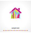Multicolored home vector image vector image