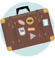 Old-fashioned suitcase vector image vector image