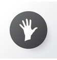 palm icon symbol premium quality isolated hand vector image vector image