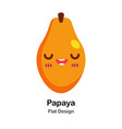 papaya flat icon vector image